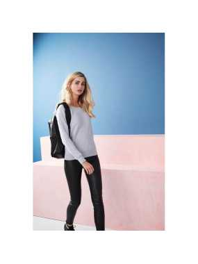 Dámska mikina (ALL WE DO IS GIRLIE FASHION SWEAT) > šedá (heather) > XS