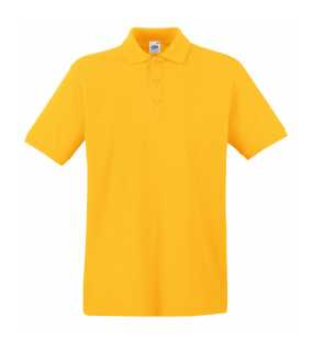 Pánska polokošeľa (FRUIT OF THE LOOM Premium Polo )>žltá (sunflower)>S