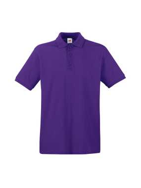 Pánska polokošeľa (FRUIT OF THE LOOM Premium Polo )>fialová>M