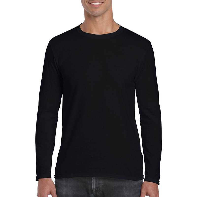 Unisex tričko (GILDAN SOFTSTYLE ADULT LONG SLEEVE T-SHIRT) > čierna > XL