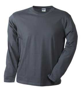Pánske tričko (JN Men's Long-Sleeved Medium)>šedá (graphite)>L