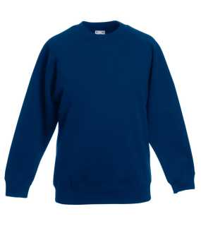 Detská mikina (FRUIT OF THE LOOM Kids Raglan Sweat)>modrá (navy)>3/4