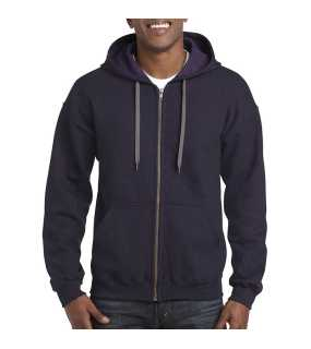 Unisex mikina (GILDAN HEAVY ADULT FULL ZIP HOODE SWEATSHIRT)>fialová (blackberry)>M