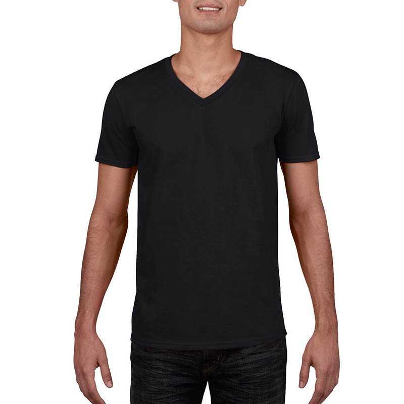 3ad2330a4a5e Unisex tričko (GILDAN SOFTSTYLE ADULT V-NECK T-SHIRT)   čierna   S ...