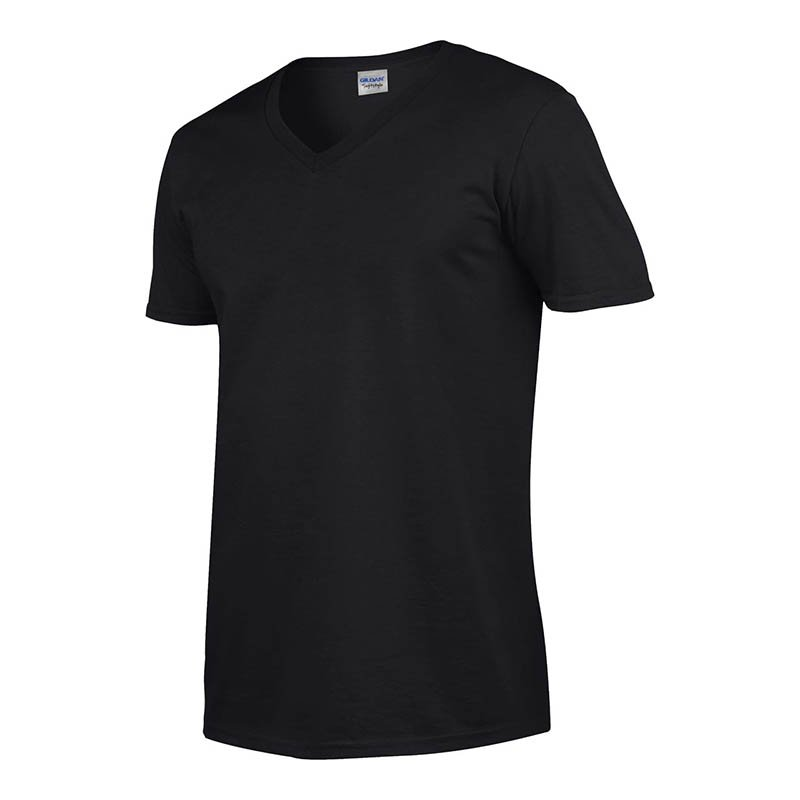 Unisex tričko (GILDAN SOFTSTYLE ADULT V-NECK T-SHIRT)   čierna   S ... 661f8bf310