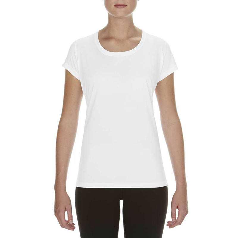 e5eece8927eb Dámske tričko(GILDAN PREFORMANCE® LADIES  CORE T-SHIRT) biela M ...