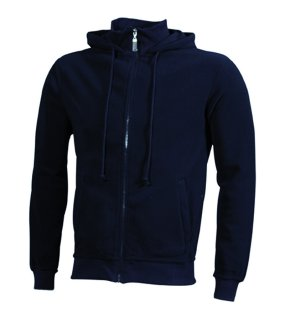 Pánska fleece bunda (JN Microfleece Hooded Jacket)>modrá (navy)>M