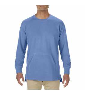 "Unisex mikina (Comfort Colors""ADULT FRENCH TERRY CREWNECK"")>modrá (flo)>S"