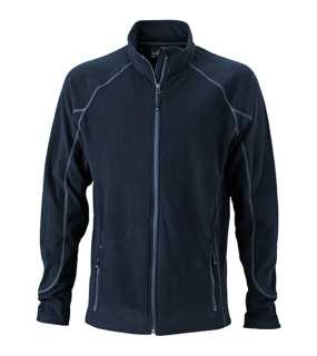 Pánska fleece bunda (JN Men's Structure Fleece Jacket)>čierna / šedá (carbon)>XL