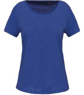 Dámske tričko(Kariban LADIES' SHORT-SLEEVED ORGANIC T-SHIRT)>modrá(ocean heather)>M