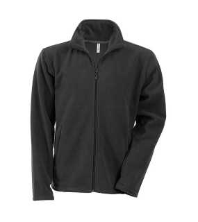 Pánska fleece bunda (KARIBAN ZIP THROUGH FLEECE JACKET)>šedá (dark)>M