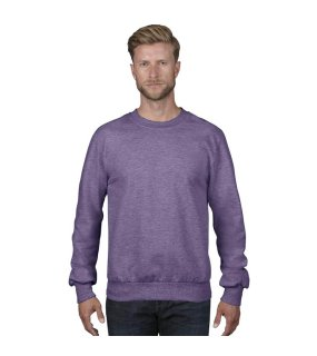 Pánska mikina (ANVIL ADULT CREWNECK FRENCH TERRY) > purpurová (heather) > L