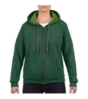 Dámska mikina (GILDAN HEAVY LADIES FULL ZIP HOODED SWEAT) > zelená (meadow) > 2XL