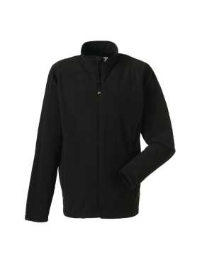 Pánska fleece bunda(Full Zip Microfleece RUSSELL)>čierna>XS