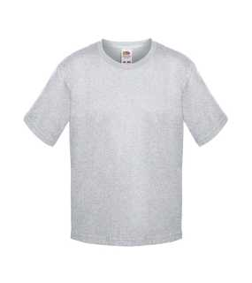 Detské tričko (FRUIT OF THE LOOM Boys Sofspun Tee)>šedá(heather grey)>7/8