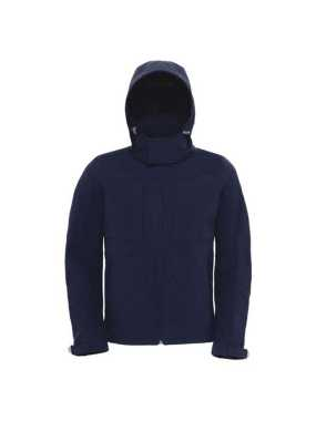 Pánska bunda (B&C HOODED SOFTSHELL/MEN) > modrá (navy) > L