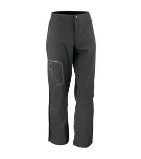 Unisex nohavice (RESULT TECH PERFORMANCE SOFTHELL TROUSERS)>čierna>L