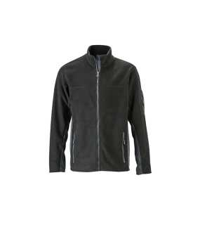 Pánska fleece bunda(J&N MEN'S FLEECE JACKET)>čierna / šedá (carbon)>L
