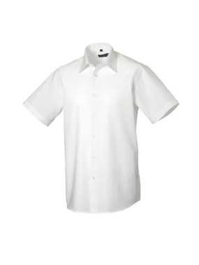Pánska košeľa(Short Sleeve Easy Care Tailored Oxford RUSSELL)>biela>S