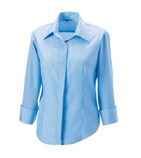 Dámska košeľa(3/4 Sleeve Tencel® Corporate RUSSELL) > modrá(bright sky) > XL