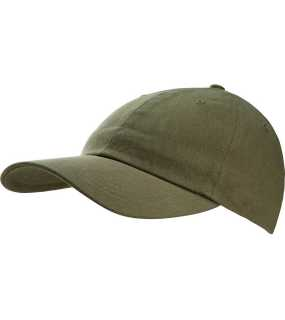 6 panelová šiltovka (K-UP WASHED CAP - 6 PANELS)>zelená (military)