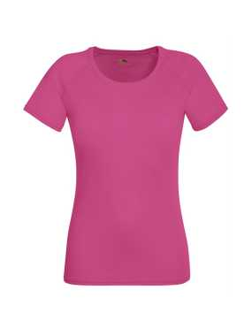 Dámske tričko (FRUIT OF THE LOOM New Lady-Fit Performance T)>ružová (fuchsia)>M