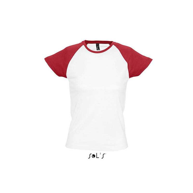 94fb7febca4f Dámske tričko (SOLS MILKY WOMEN RAGLAN SLEEVES T-SHIRT) biela   červená L.  reklamné ...