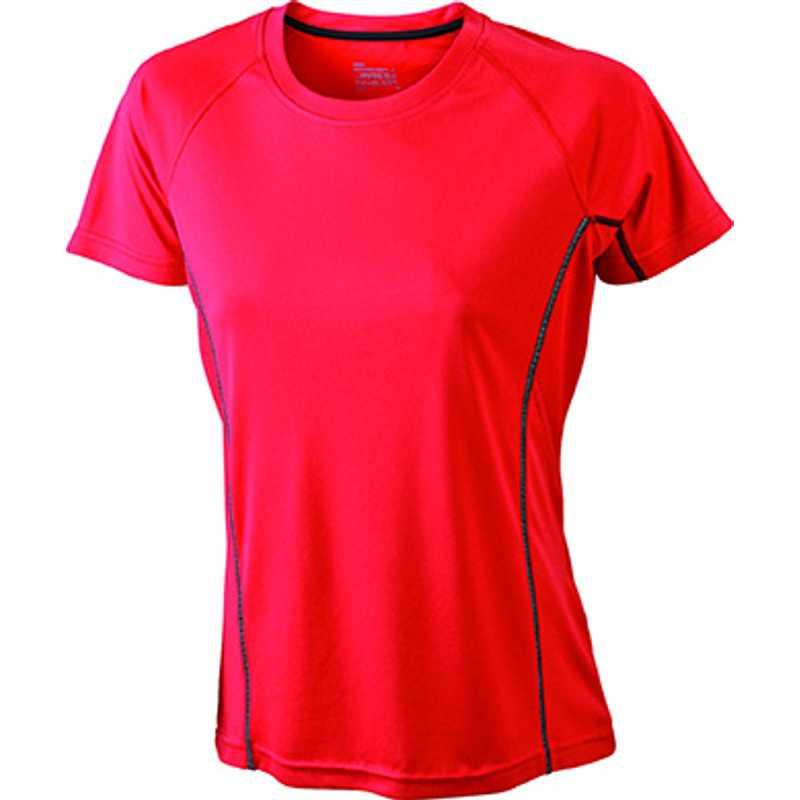3d7ca9ae4a01 Dámske tričko (JN Ladies  Running Reflex-T) červená   čierna L. reklamné ...