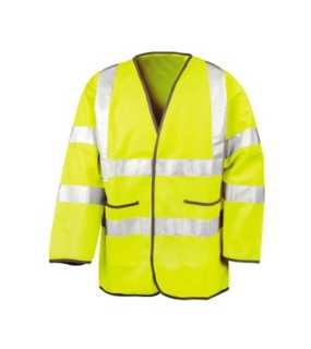 Unisex bunda (RESULT SAFEGUARD LIGHTWEIGHT MOTORWAY SAFETY JACKET)>žltá>L