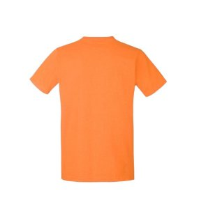 Pánske tričko (FRUIT OF THE LOOM Fitted Valueweight T)>oranžová>S