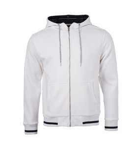 808f127e13728 Pánska mikina(JN Mens Club Sweat Jacket)>biela / modrá (navy)