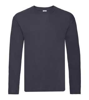 Pánske tričko(FRUIT OF THE LOOM Original Long Sleeve T )>modrá(deep navy)>S
