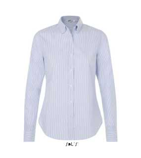 Dámska košeľa(SOL'S BEVERLY WOMEN STRIPED SHIRT)>biela (stripped blue)>XS