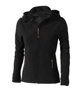 Dámska softshell bunda (ELEVATE Langley Ladies Softshell Jacket) > čierna (solid) > M