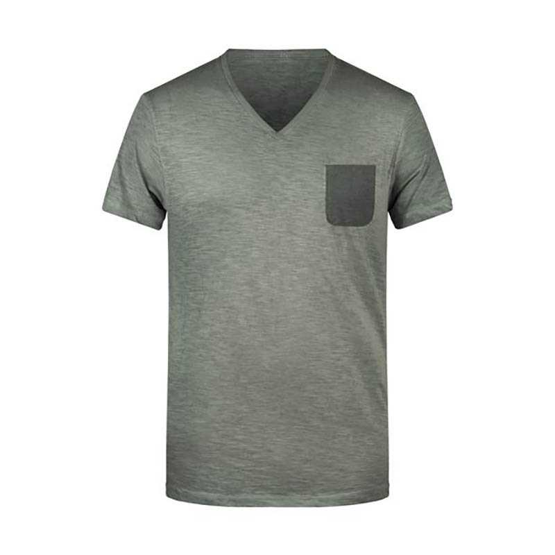 6a6b9b391919 Pánske tričko(JN Mens Slub-T) zelená (dusty olive) XL - REPRE ...