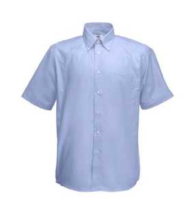 Pánska košeľa (FRUIT OF THE LOOM Short Sleeve Oxford Shirt )>modrá (oxford)>L