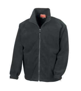 Unisex bunda (RESULT FULL ZIP ACTIVE FLEECE JACKET)>čierna>L