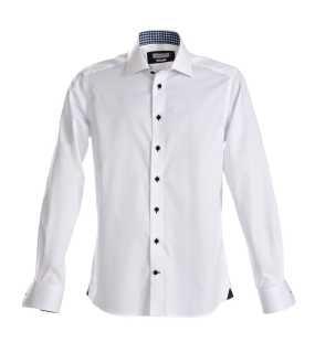 1e0d099209e65 Pánska košeľa (James Harvest SHIRT RED BOW 20 SLIM FIT) > biela / modrá ·  NEW