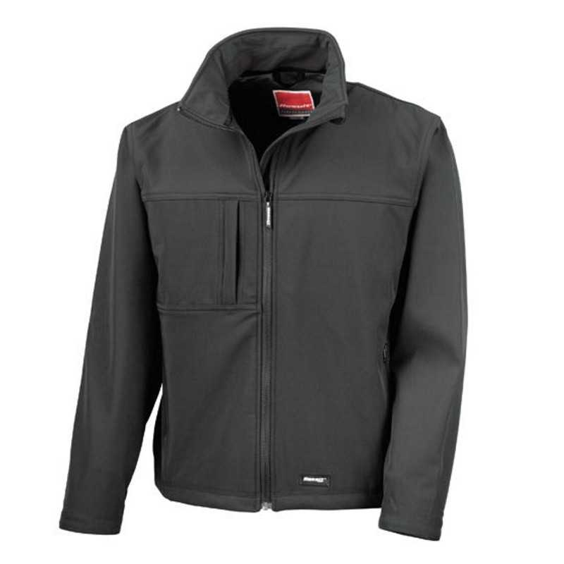 Pánska bunda (RESULT MENS CLASSIC SOFT SHELL JACKET)>čierna>L