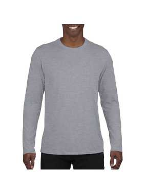 Pánske tričko (GILDAN PERFORMANCE ADULT LONG SLEEVE T-SHIRT) > šedá (sport) > M