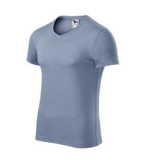 5839d7bc592f Pánske tričko (ADLER Slim Fit V-neck)   modrá (denim)