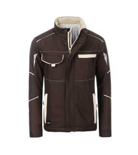7ecd87e5d1bd Pánska pracovná bunda(JN Workwear Softshell Padded Jacket-Level 2) hnedá