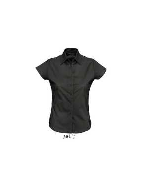 Dámska košeľa (SOLS EXCESS LADIES SHORT SLEEVE STRETCH SHIRT) > čierna > XS