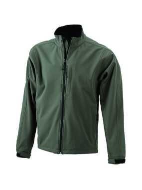 Pánska softshell bunda (JN Men's Softshell Jacket)>zelená (olive)>S