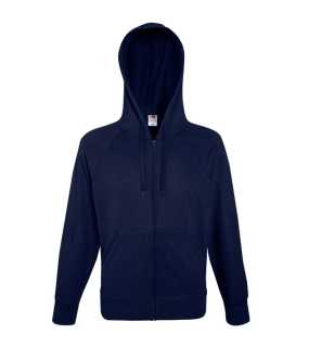 Pánska mikina (Fruit of the Loom-LW HOODED SWEAT JKT)>modrá (deep navy)>M