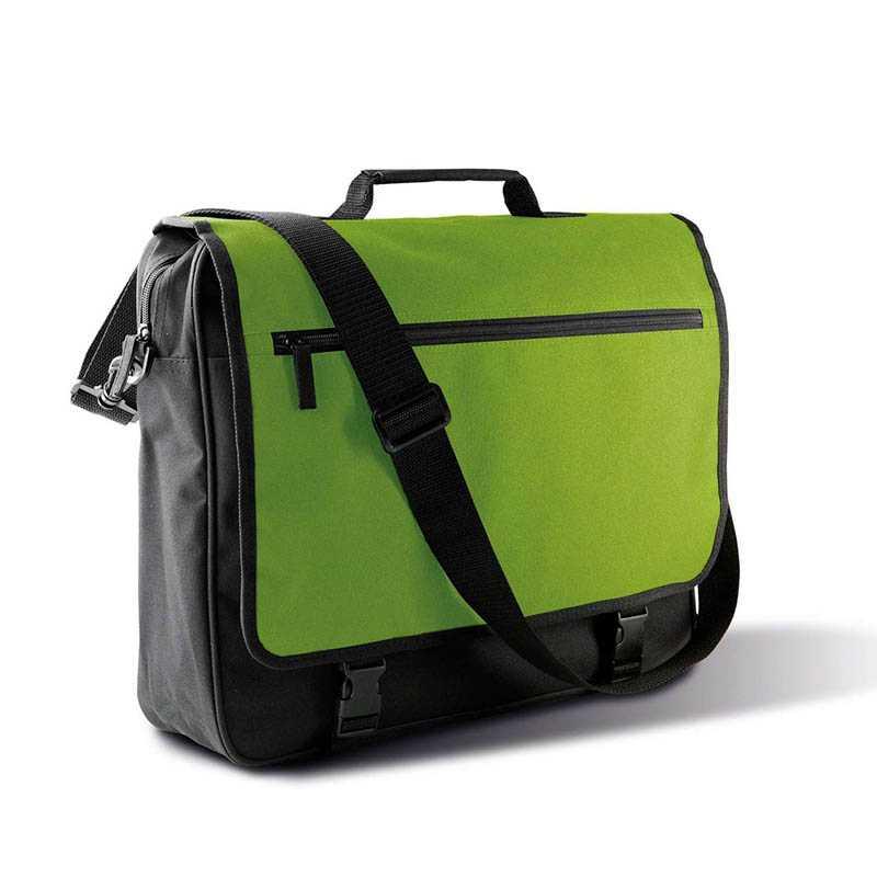 b75fc9d226 Taška na dokumenty (KIMOOD FLAP OVER DOCUMENT BAG) čierna   zelená (burnt  lime). reklamné predmety ...