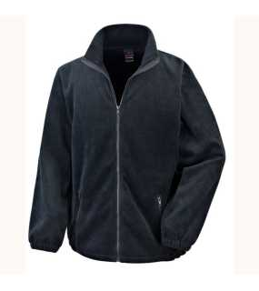 Pánska bunda (RESULT Core Fashion Fit Outdoor Fleece)>čierna>M