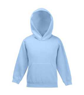 Detská mikina (FRUIT OF THE LOOM Kids Hooded Sweat )>modrá (sky)>7/8
