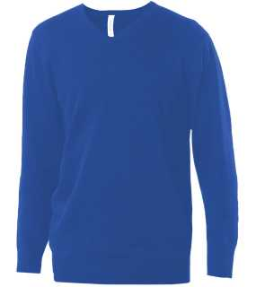 Pánsky sveter (KARIBAN MENS V-NECK JUMPER) > modrá (light royal) > L