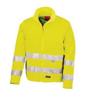 Unisex bunda (RESULT HIGH -VIZ SOFT SHELL JACKET)>žltá>XL